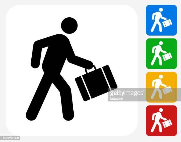 passenger icon flat graphic design - commuter stock illustrations, clip art, cartoons, & icons