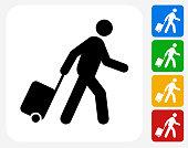 Passenger Icon Flat Graphic Design