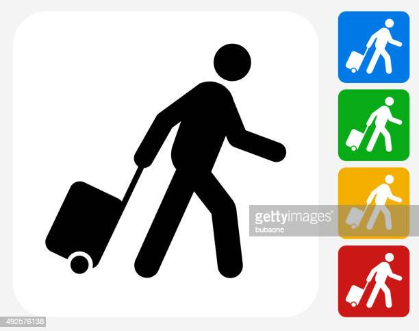 Passenger Icon Flat Graphic Design