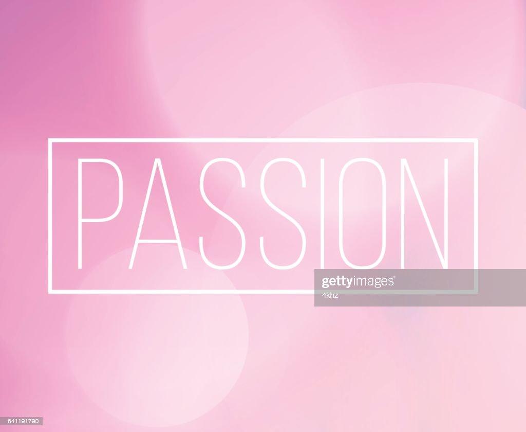 Leidenschaftwortrahmen Mit Bokeh Licht Hintergrund Vektorgrafik ...