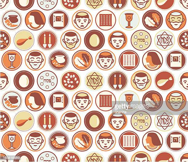 passover circles seamless pattern - passover stock illustrations