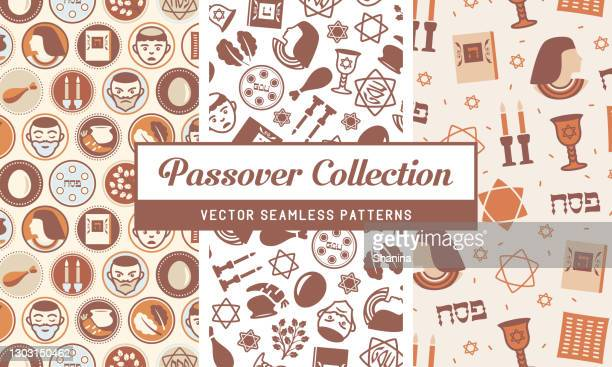 passover holiday - seamless pattern collection - passover stock illustrations