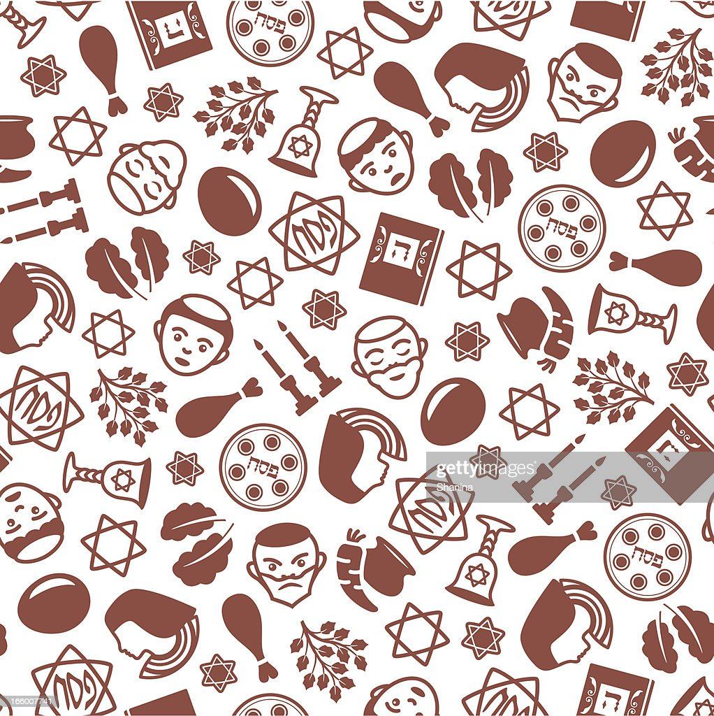 Passover - One Color Seamless Pattern