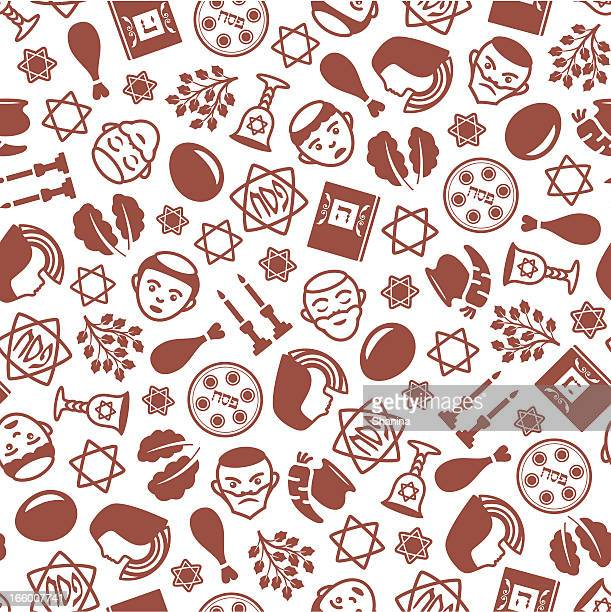 passover - one color seamless pattern - passover stock illustrations