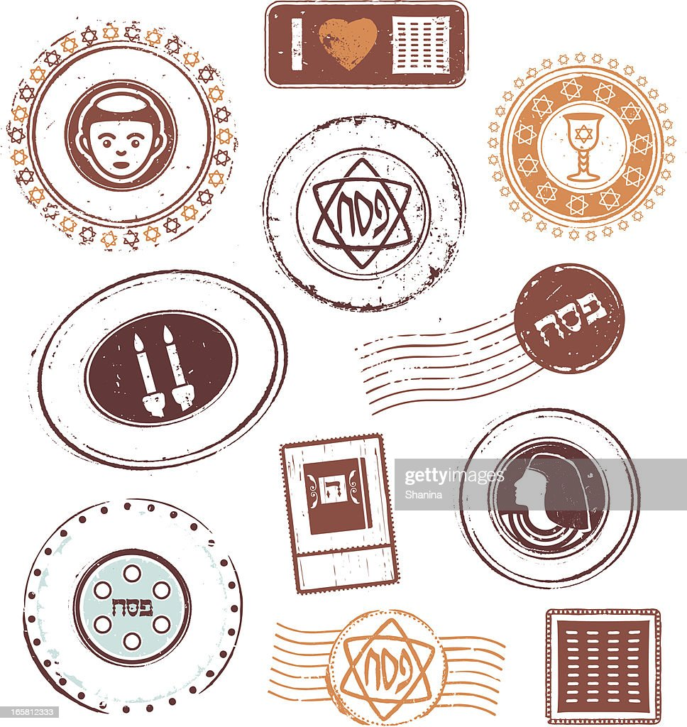 Passover Rubber Stamps