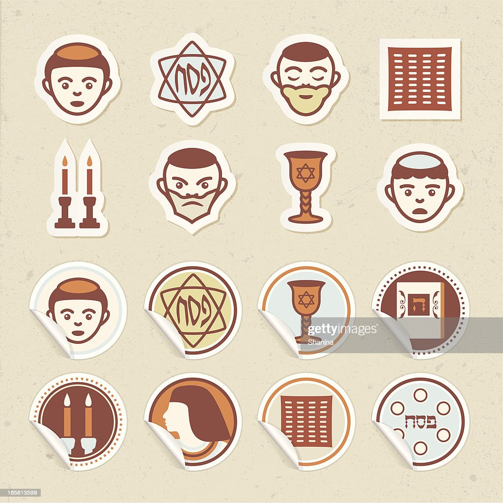Passover Sticker Icons