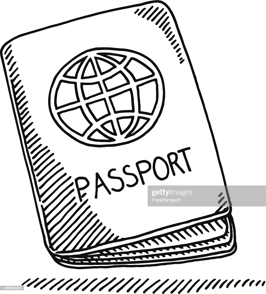 Passport Booklet Globe Drawing Vector Art | Getty Images