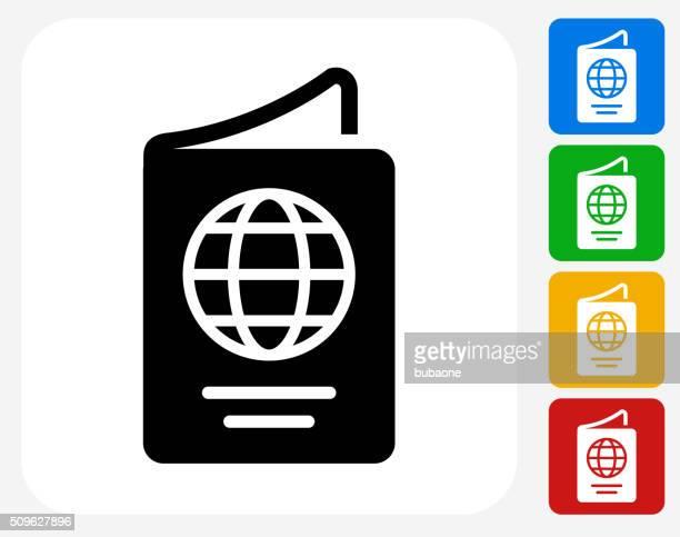 passport icon flat graphic design - passport stock illustrations
