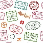 Passport stamp texture