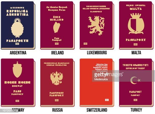 passport vector icon - turkey middle east stock illustrations
