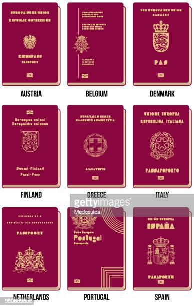 passport vector icon - passport stock illustrations