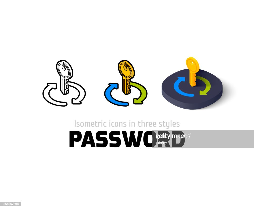 Password icon in different style
