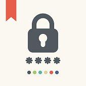 Password protected icon