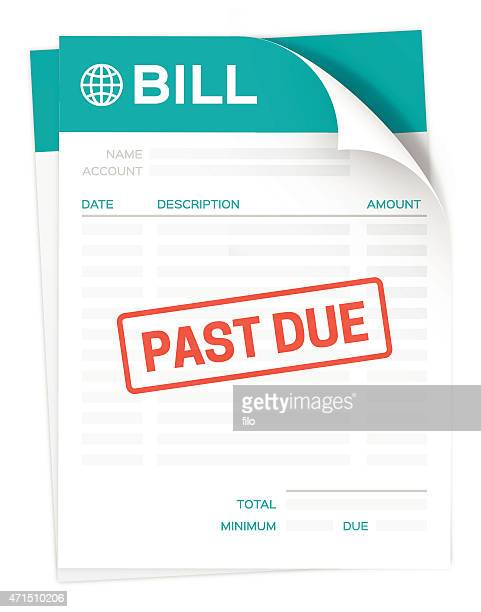 past due bill - legal document stock illustrations, clip art, cartoons, & icons