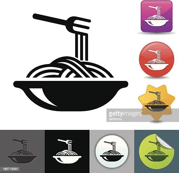 stockillustraties, clipart, cartoons en iconen met pasta icon | solicosi series - spaghetti