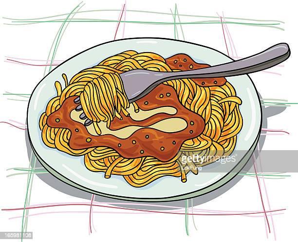 pasta illustration - minced stock illustrations, clip art, cartoons, & icons