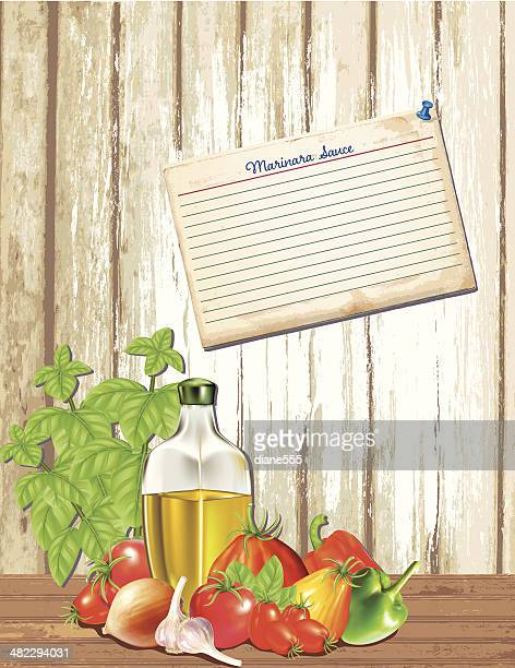 Pasta Sauce Ingredients With Recipe Card