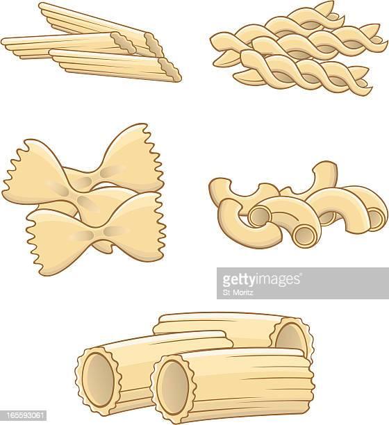 pasta various - macaroni stock illustrations, clip art, cartoons, & icons