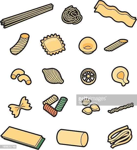 pasta - macaroni stock illustrations, clip art, cartoons, & icons