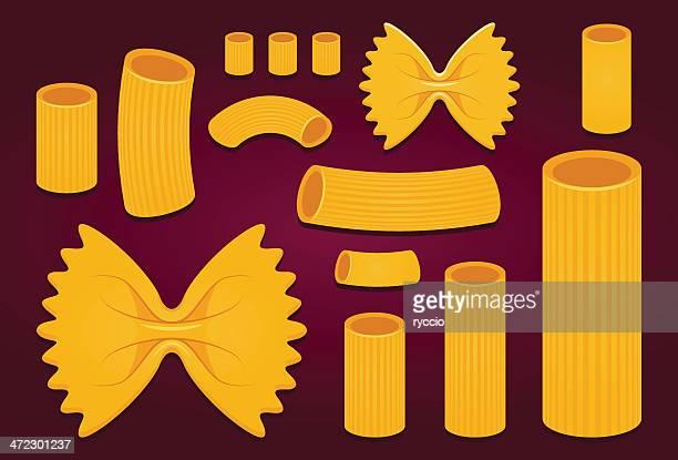 pasta vector - macaroni stock illustrations, clip art, cartoons, & icons