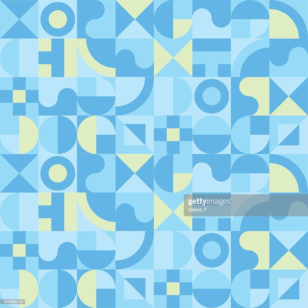pastel color geometry seamless pattern