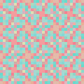 Pastel colors pixel design items seamless pattern background