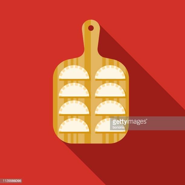 pastel de queijo brazil icon - meat pie stock illustrations, clip art, cartoons, & icons