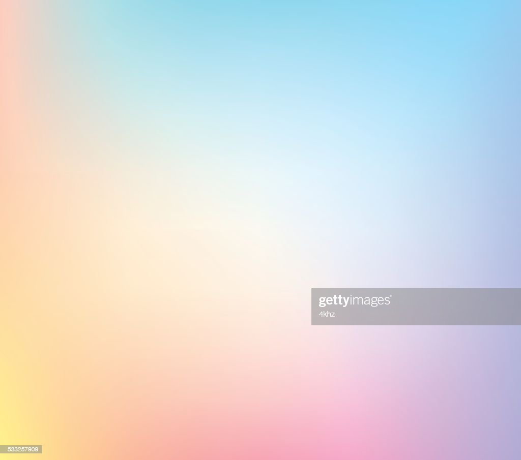 Pastel Defocus Multi Color Gradient Stock Vector Background