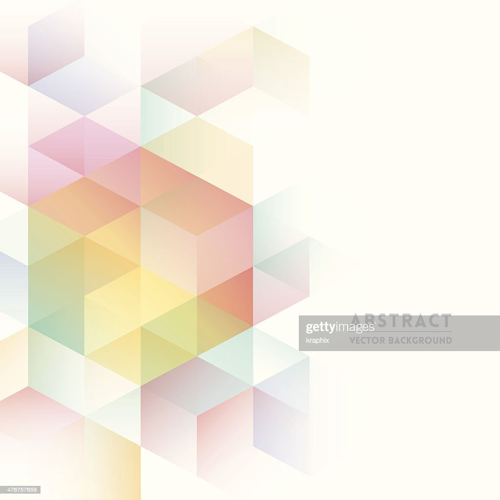 Pastel isometric shapes for abstract background