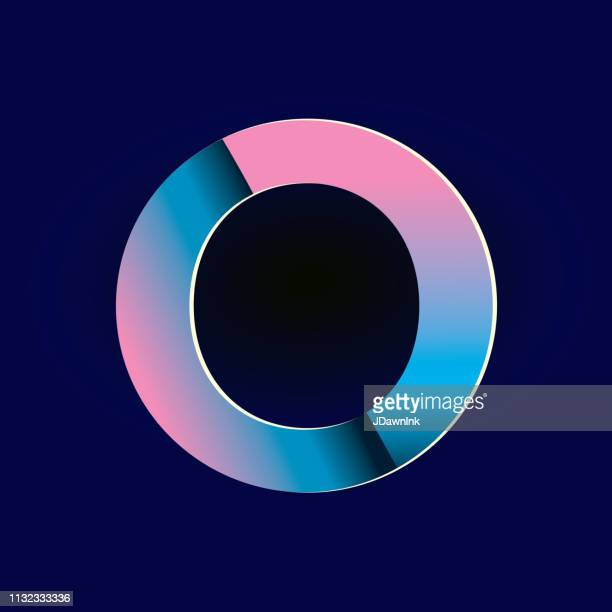 Pastel pink and electric blue gradients Alphabet number digit