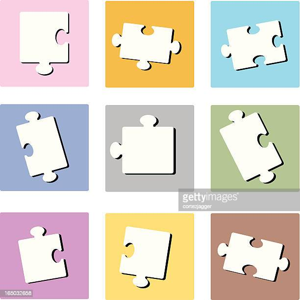 pastel puzzle squares (vector illustration) - 8 9 years stock illustrations, clip art, cartoons, & icons