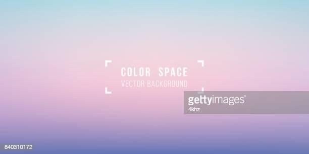 stockillustraties, clipart, cartoons en iconen met pastel sky zachte kleur ruimte defocus vloeiende gradatie achtergrond - horizon