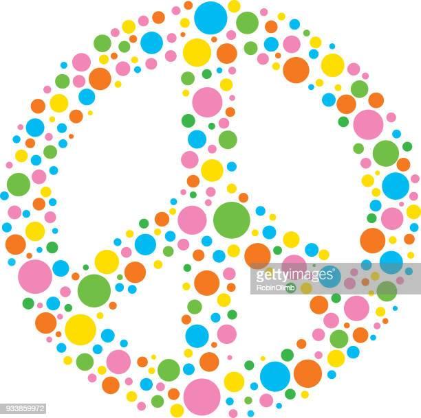 Pastel Spots Peace Sign