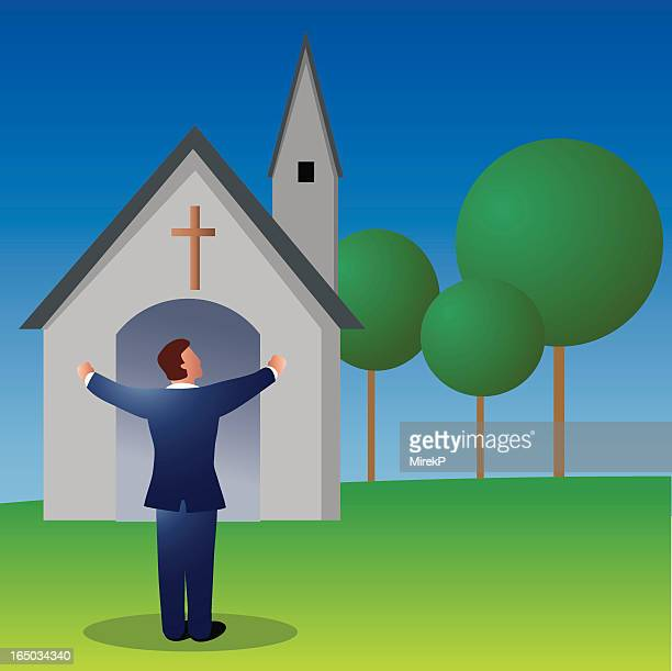 pastor - place of worship stock illustrations