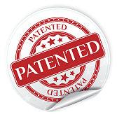 Patented Sticker