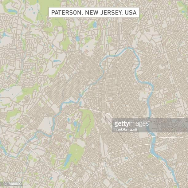 Paterson New Jersey USA Stadtstraße Karte