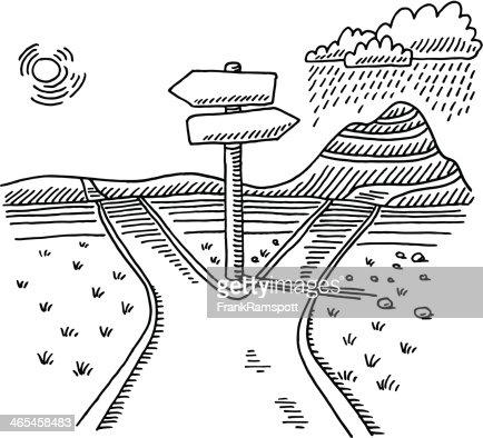 Path En Direction De Dessin Au Choix Clipart vectoriel