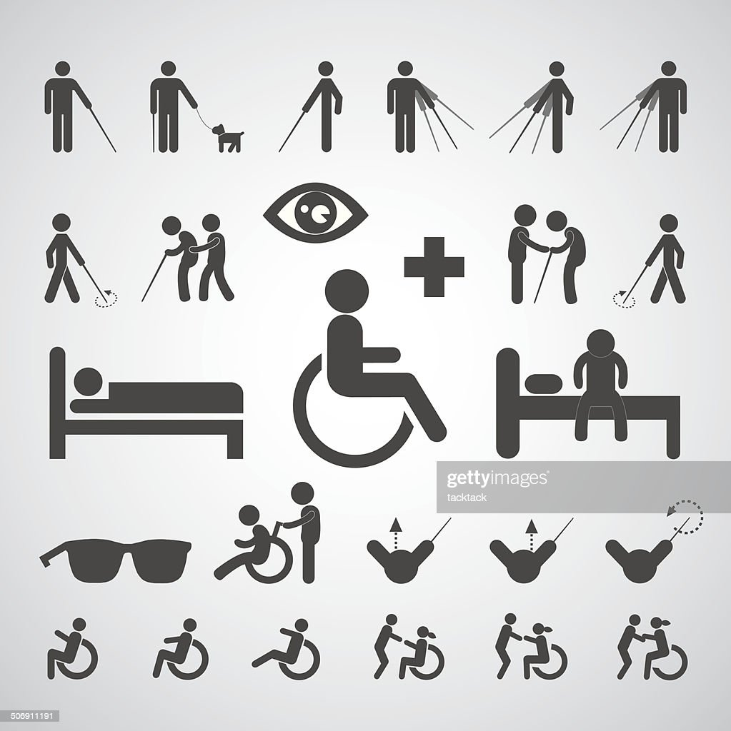 patient blind disabled and old man symbol