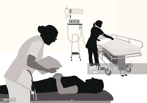 ilustraciones, imágenes clip art, dibujos animados e iconos de stock de patientcare - enfermera