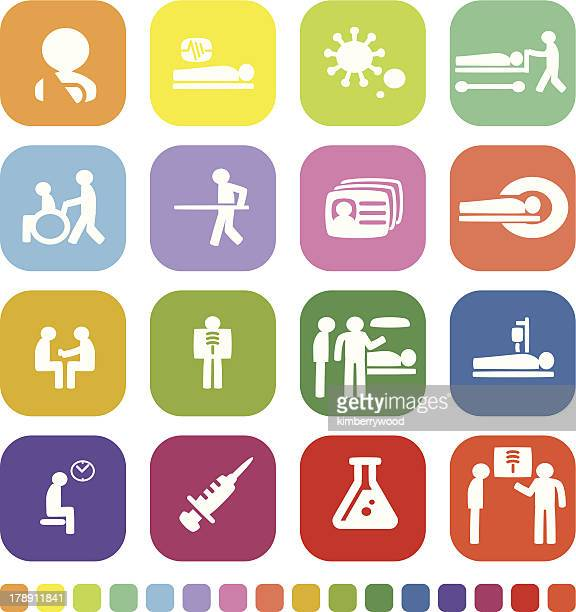 patient icon - assistive technology stock illustrations, clip art, cartoons, & icons