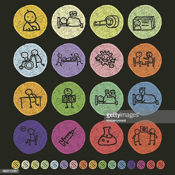 patient icon - physical therapy stock illustrations, clip art, cartoons, & icons