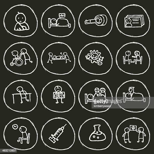 患者アイコン - ctスキャナー点のイラスト素材/クリップアート素材/マンガ素材/アイコン素材