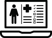 Patient Medical Record Icon. Flat Design