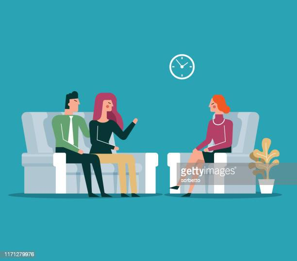 Patient on couch counseling with psychologist