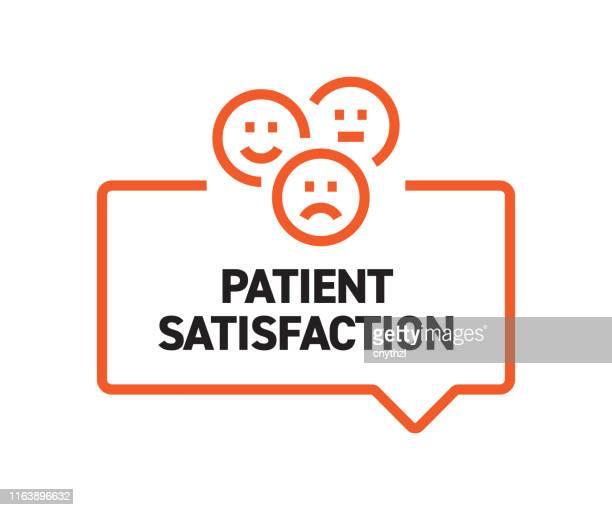 patient satisfaction concept - questionnaire stock illustrations