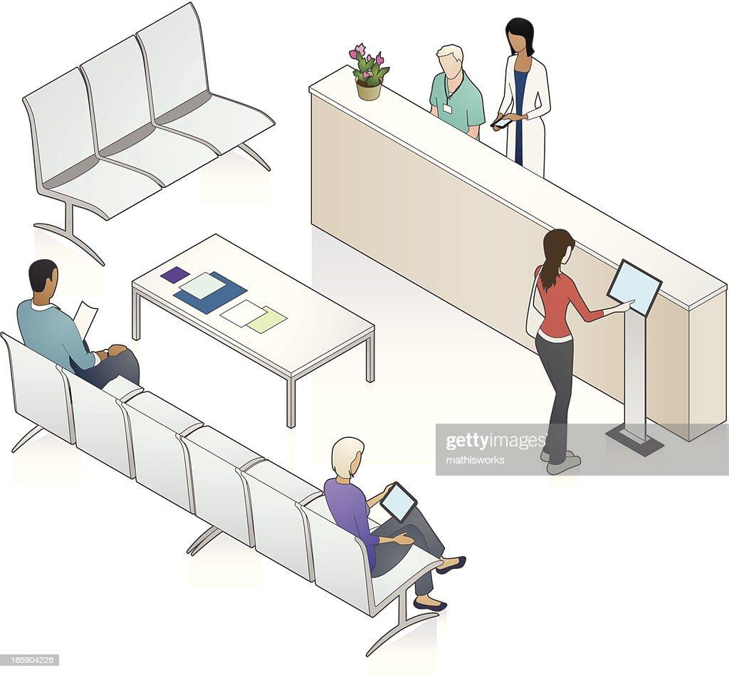 Patient Waiting Area Illustration : stock illustration