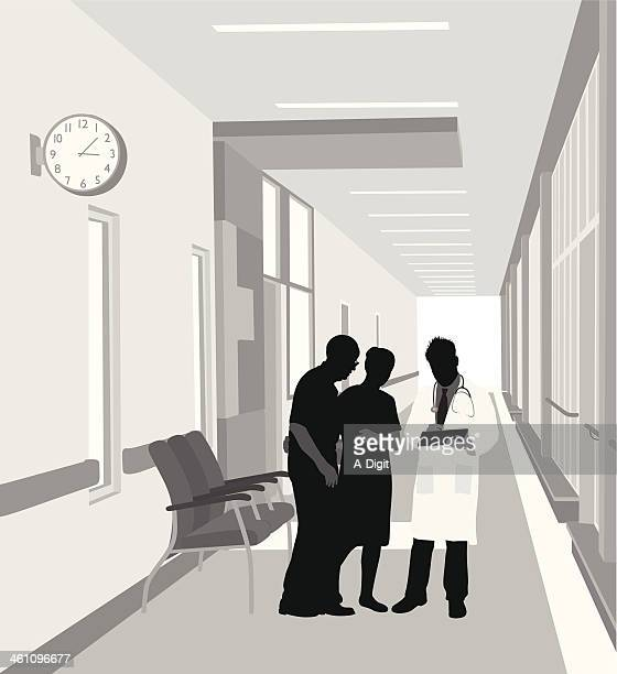 patients - corridor stock illustrations, clip art, cartoons, & icons