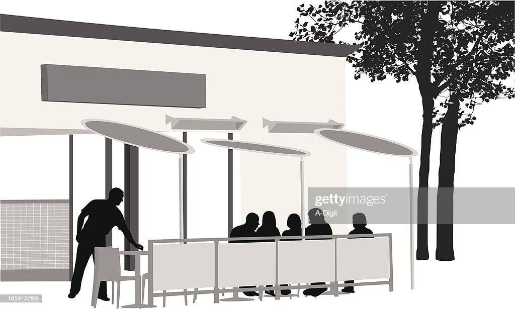 Patio Dining Vector Silhouette