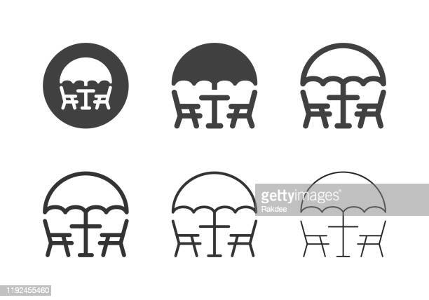 patio furniture icons - multi series - outdoors stock illustrations