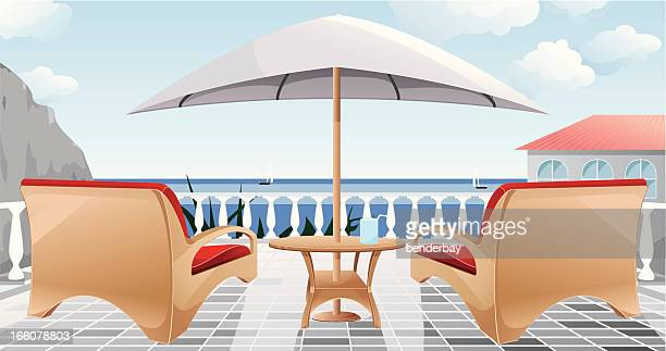 patio. - looking at view stock illustrations, clip art, cartoons, & icons